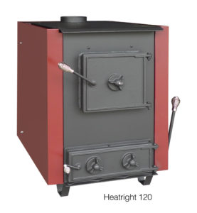 The Heatright 120 stove is coal and wood burning manufactured by DS Stoves and sold by Wilson Coal in Sparta NJ